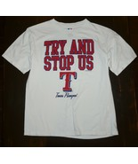 """Texas Rangers """"Try And Stop Us"""" Youth T-Shirt Large - $13.74"""