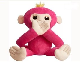 WowWee Fingerlings Hugs Bella Friendly Interactive Pink Plush Monkey New - $29.69