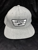 Vans Off The Wall Avery Gray 2007 Wool Blend Full Patch Snapback Hat Men... - $24.74
