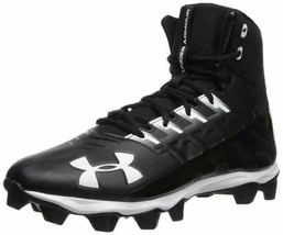 New in Box Under Armour Kids' Renegade RM Jr. Football Shoe Black Size 3... - $33.25
