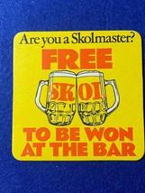 BEER MAT COASTER - TWO SIDED -  SKOLMASTER FREE BEER   (FF257) - $5.48