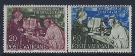 1953 St Bernard Vatican City Set of 2 Postage Stamps Catalog Number 171-72 MNH