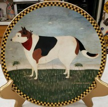 "Warren Kimble ""Barnyard Dog"" Lenox Collector Plate Vintage 1994 - $23.38"