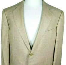 Ermenegildo Zegna Mens Sport Coat Size 44 R Silk Cashmere Blend Gold Tan... - $79.16