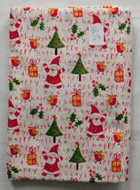 Fabric JoAnn, Excited Santa, Happy Holidays, Christmas Print, 42 Wide 2 1/4 Yard - $14.99