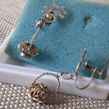 Chinese Character & Basket Charm Earrings ~ Chinese Symbol Screw Back Ea... - $29.95