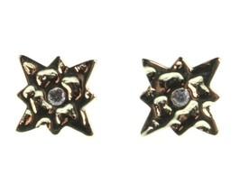 Neu Kevia 18K Vergoldet Cubic Zirkonia Kristall Starburst Post Ohrstecker