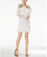 Bar Iii Off-The-Shoulder Lace Dress WHITE - $21.55
