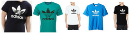 adidas Originals Men's Trefoil Tee Shirt Authentic Licensed T-shirt Short Sleeve