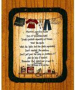 Mom's Laundry Rules Folk Art Sampler Print Read... - $4.75