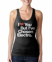 Mujer i Love You But i ' Ve Chosen Electro Musice Negro Camiseta de Tirantes