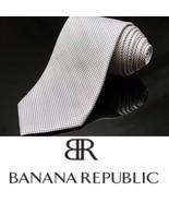 "BANANA REPUBLIC Silk Tie. Grey Geometric. 3 1/4"" Wide - $20.88"