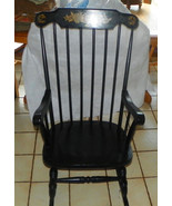 Black Nichols & Stone Rocker / Rocking Chair  (R241) - $399.00