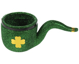 Green Glitter Four-Leaf Clover Pipe Table Decoration St. Patrick's Day Decor