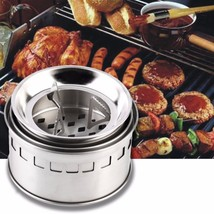 Camping Stoves Mini Portable Stainless Steel Outdoor Cooking Tools Wood ... - €27,13 EUR