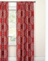 "1 Threshold Window Curtain Panel Red Medallion 95"" Home Bedroom Nwop - $19.79"
