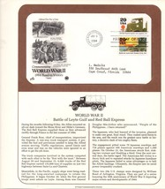 World War II, Battle of Leyte Gulf, 1st Day of Issue, 1993, 29 cent USPS... - $2.97
