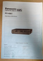 Panasonic Omnivision PV-4061 VHS operating instructions manual  - $9.99