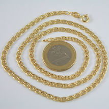 18K GOLD YELLOW CHAIN, SAILORS NAVY MARINER, FINELY WORKED, SHINY, MADE IN ITALY image 5