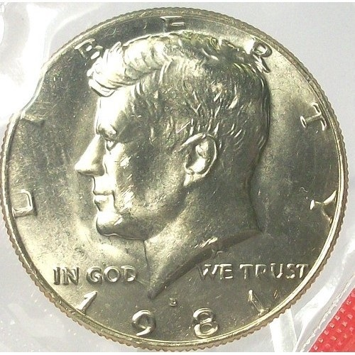 Primary image for 1981-D Kennedy Half Dollar BU Still in Cello #0526