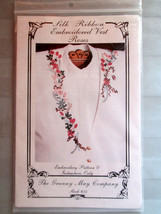 Granny May 54 Silk Ribbon Embroidered Instructions Vest Roses  New - $9.89