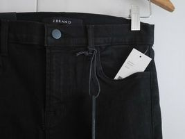 $198 NEW J Brand Maria - High Rise Skinny in Black Heart Destroyed - Size 29 image 5