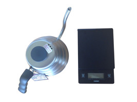 Hario V60 Drip Scale and 1.2 Liter Kettle Set Sold Together - $91.07