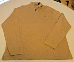 Polo Ralph Lauren 1/4 Jersey Cremallera L/S CAMISETA XL Estate Costilla Hombre - $69.48