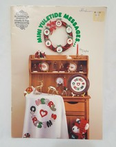 Mini Yuletide Messages Merry Christmas Cross Stitch Leaflet 1986 Angel s... - $14.99