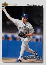 1992 Upper Deck Baseball Card, #405, Mike Schooler, Seattle Mariners - $0.99