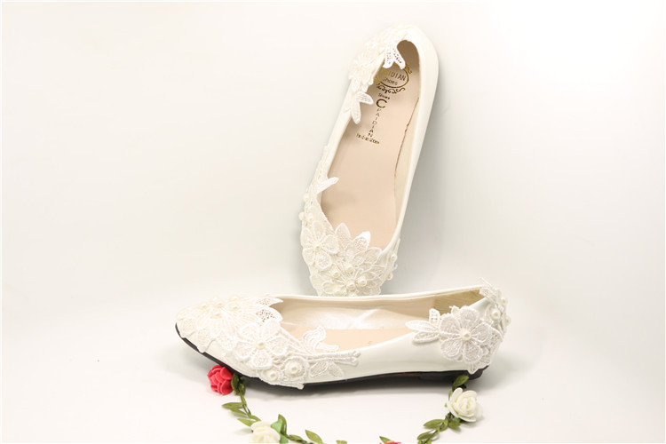 Women S Ivory Bridal Ballet Flats Lace And 50 Similar Items