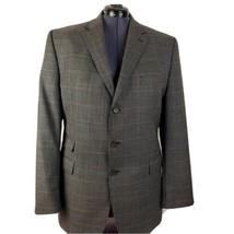 Lauren Ralph Lauren Wool Brown Glen Plaid Blazer Jacket Sport Coat 44L - $49.48