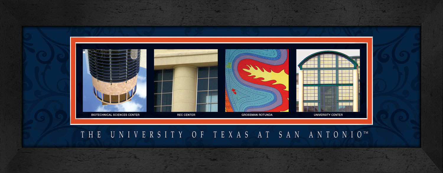 Primary image for University of Texas at San Antonio Officially Licensed Framed Campus Letter Art