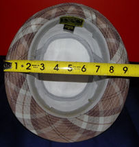 Dorfman Pacific Authentic Handmade Headwear Size M Warm Plaid Fedora Trilby image 11
