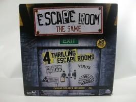 Escape Room Board Game Spin Master 3 Player 4 Escape Rooms Complete - $30.16