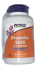 Now Foods Propolis 1500 5:1 Extract Natural Bee Product - 100 Capsules - $14.99