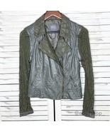 BKE | Faux Leather Lace Moto Jacket Zip Off Sleeve - $35.00