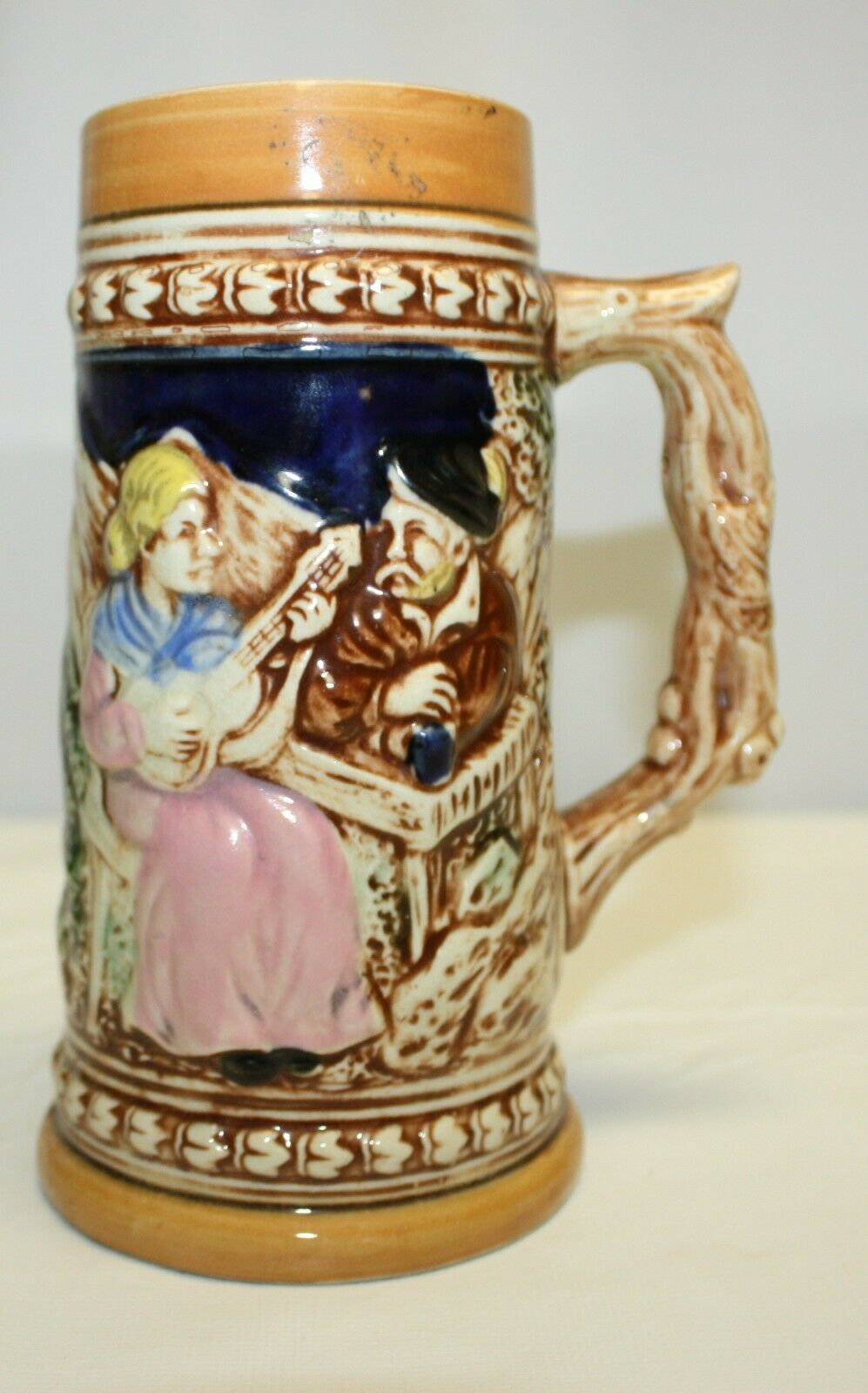 Primary image for Vintage Ceramic Sculpted Stein - German Style Design Made in Japan
