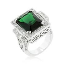 Emerald Green Classic Cocktail Ring - $56.00