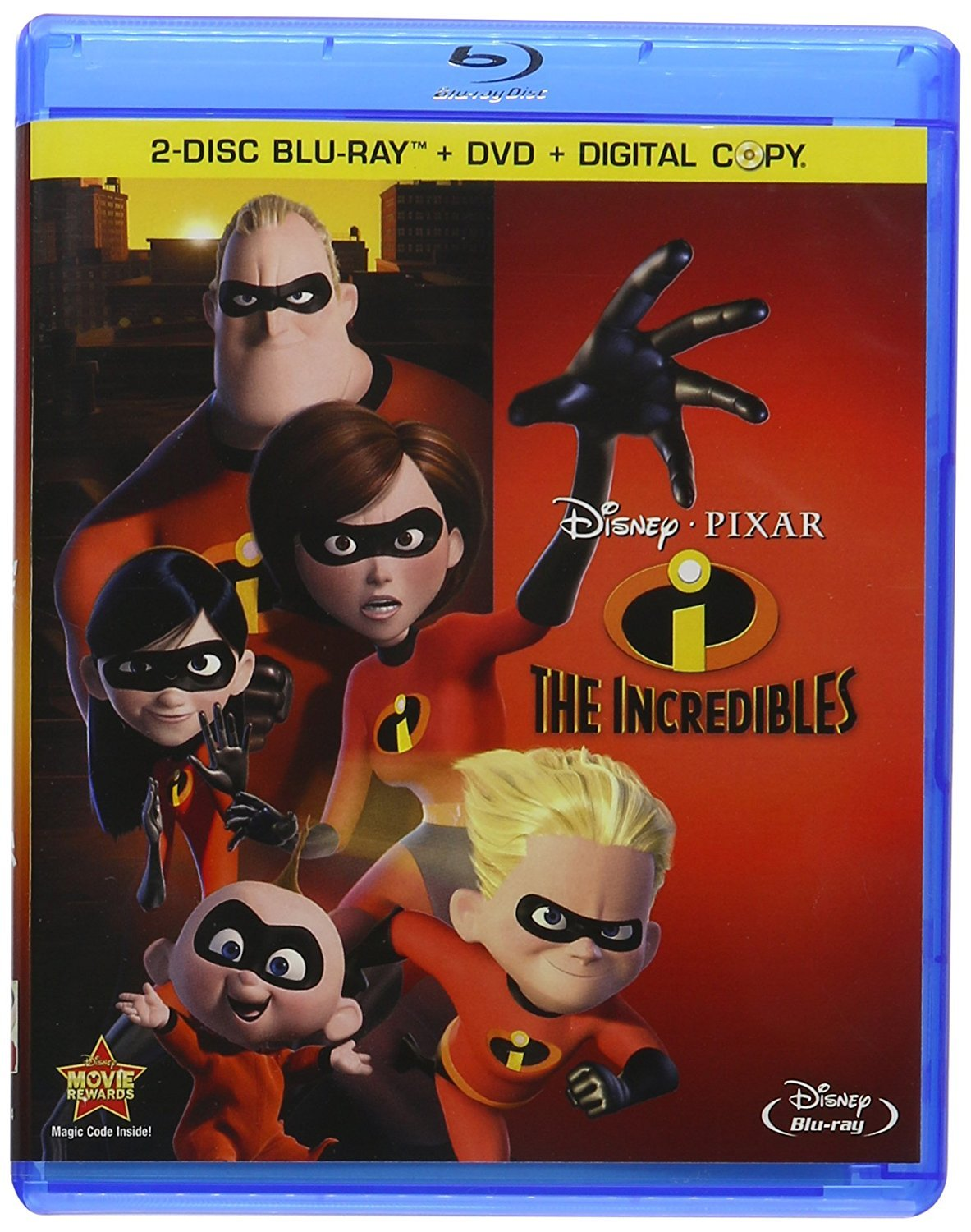 Disney The Incredibles (Four-Disc Blu-ray/DVD Combo)