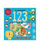 My Awesome 123 28-Piece Jigsaw Puzzle & Book! By Dawn Machell - $11.75