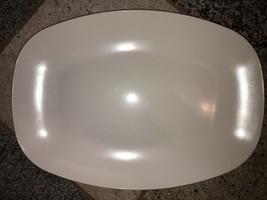 "Melamine- NEW- White 14x10"" Platter Made In Mississippi The Big One - $25.25"
