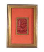 Coppia di (2) Incorniciato Antico Asiatico Cinabro Sculture 11 7/20.3cmx... - $1,191.20