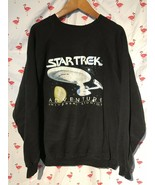 Vintage Star Trek Adventure Universal Studio Men L/XL Black Sweat Shirt ... - $63.70