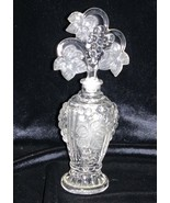 Vintage Imperial Glass Grape Leaves Crystal Satin Perfume Bottle with St... - $149.00