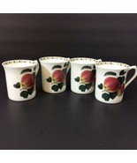 Set Four 4 Queen's Hookers Fruit Fine Bone China Mugs Cups Apples - $38.34
