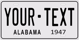 Alabama 1947 License Plate Personalized Custom Car Auto Bike Motorcycle Moped - $10.99+