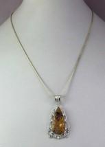 Picture Jasper Silver Overlay Handmade Pendant With Chain R-1-8 - $4.49