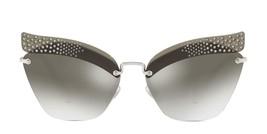 MIU MIU NOIR MU56TS Silver Grey Gradient Crystal Embellished Sunglasses 56T - $185.77
