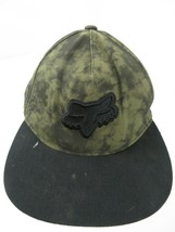 Fox Racing Green Black Adjustable Adult Ball Cap Hat - $14.84